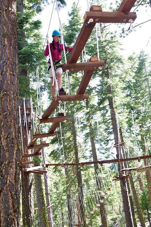 North Tahoe Adventures.  Hasropes courses and ziplines for adults and children......next time!!