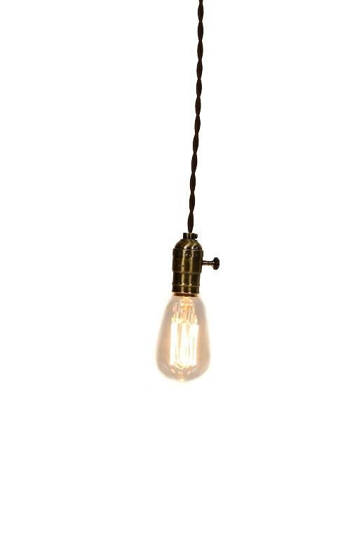 exposed edison bulb pendant