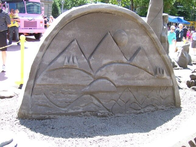 Sand Castle competition, Portland, Oregon.  A Travel Guide to Murder