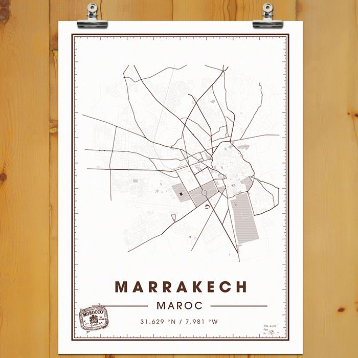 Affiche typographique design de deco murale à marrakech dispo sur http www mylittlesouk com au format poster de créateur en edition limitée pour