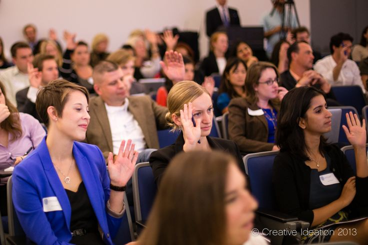 "Audience at the Council of PR Firms' ""Take Flight with PR"" program at Georgetown University in Washington DC"