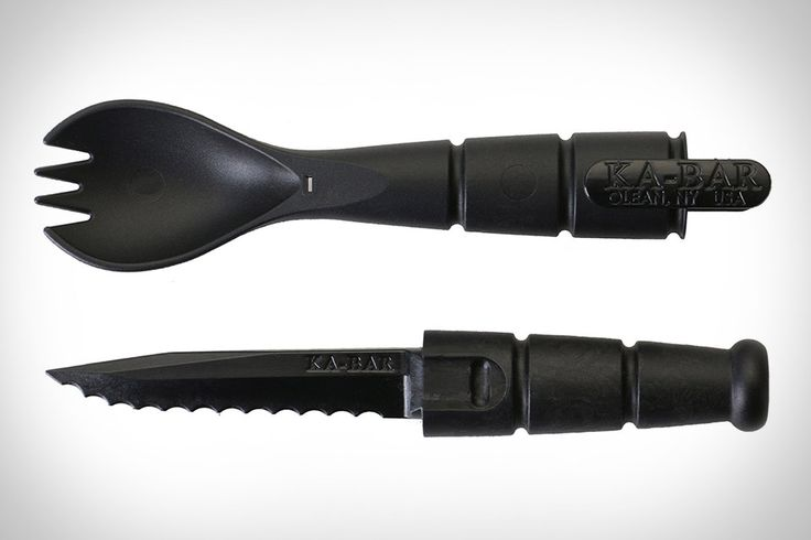 It sounds like a Taco Bell gimmick. But the Ka-Bar Tactical Spork is no joke. Made from a high-strength, food-safe polymer, this compact camping tool hides a 2.5-inch serrated knife inside its body, giving you everything you need to enjoy...