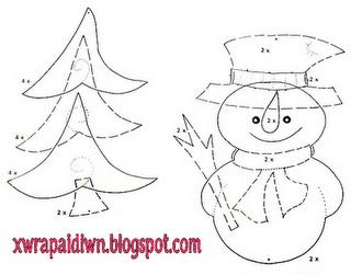 snowman decoration template
