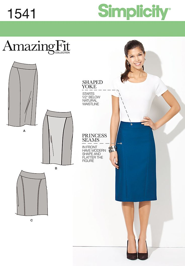 Simplicity Misses' & Miss Petite Amazing Fit Skirt 1541