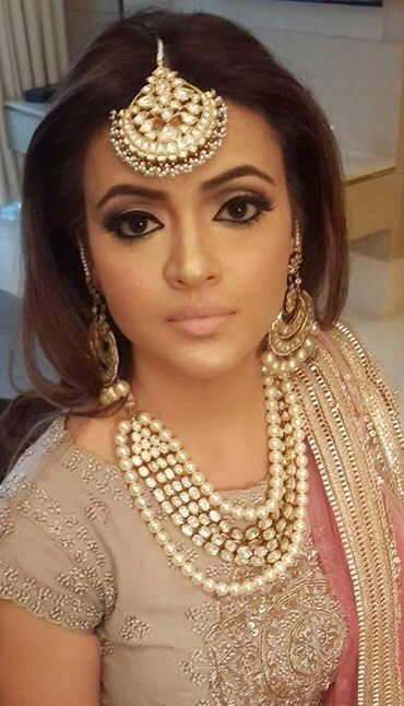 Tikka and kundan necklace for a desi wedding