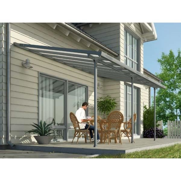 Toit terrasse gris avanc e 3m 16 1m2 pergolas and patios for Table exterieur 3m