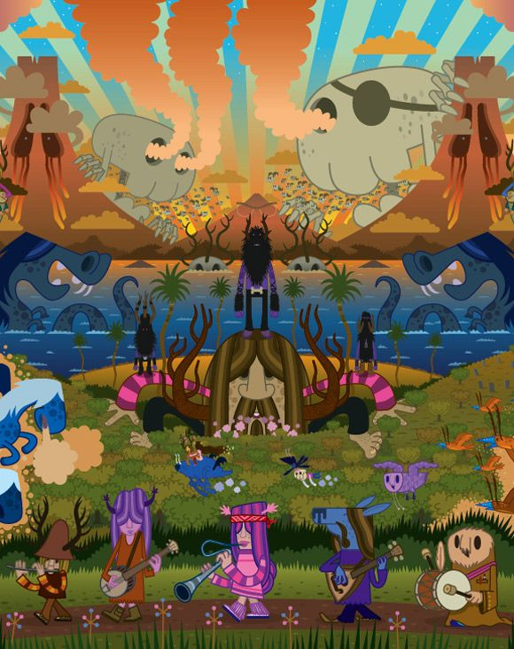 Pete Fowler's Monsterism Island