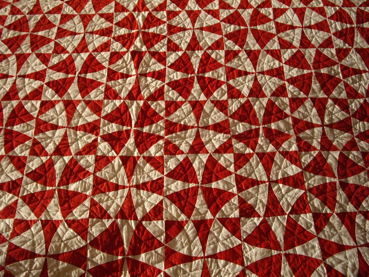 """An amazing """"Winding Ways"""" quilt--I would never have thought of using only 2 colors!"""