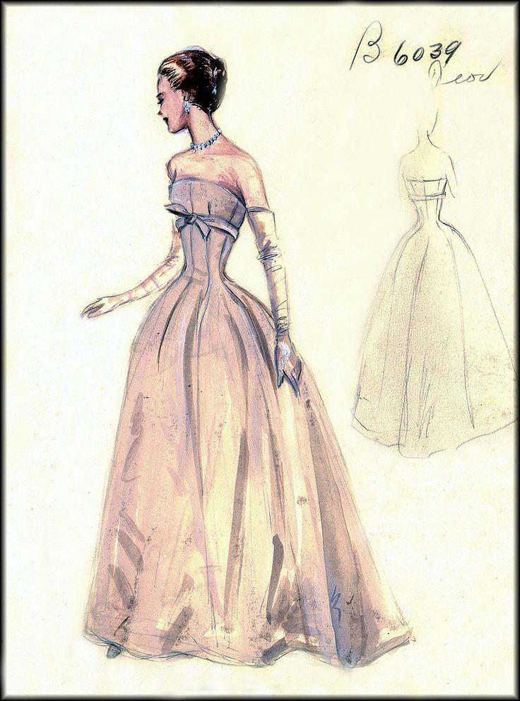 Bergdorf Goodman's salon sketches