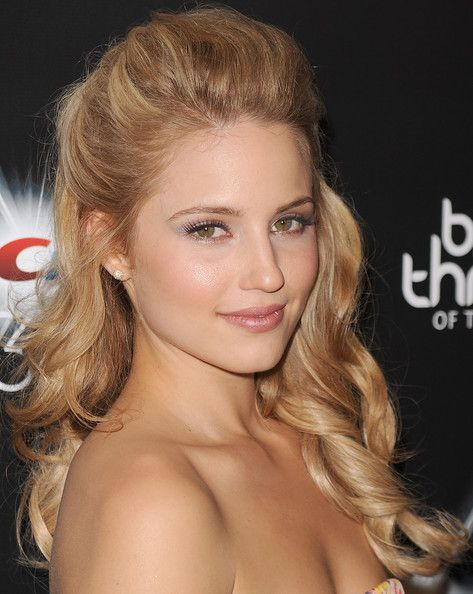 Dianna Agron Half Up Half Down - hair for my prom ! gorgeous