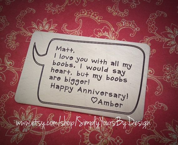 Pin By 3 Higs On Husband Gift Ideas Anniversary Funny