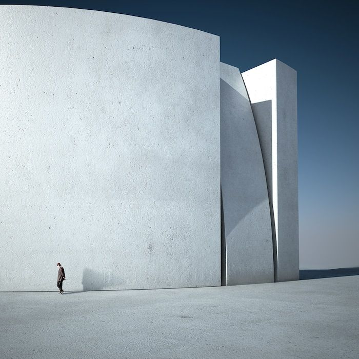 Michele Durazzi Creates Surreal Minimalist Architecture Images