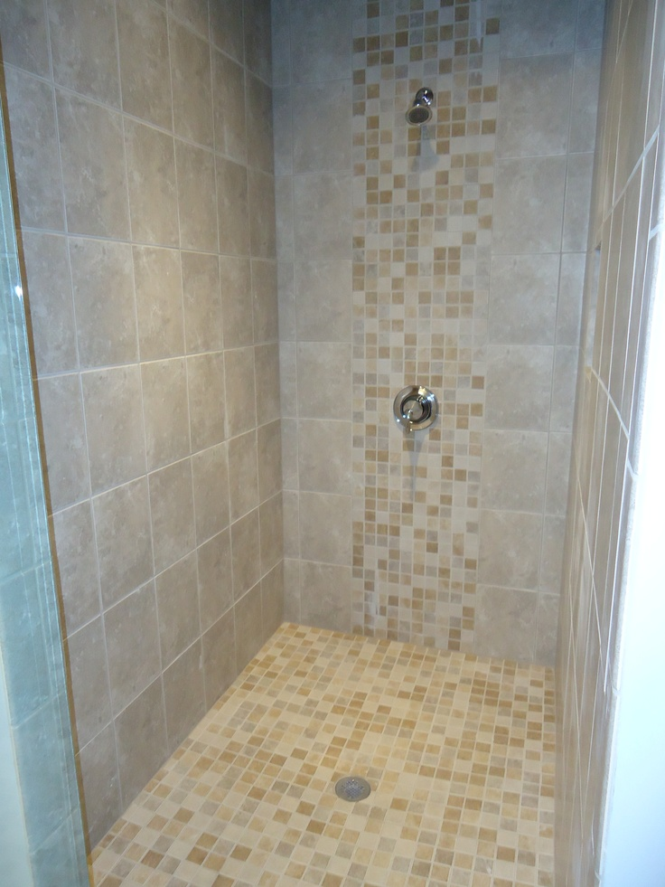shower gray tile daltile sandalo castillian bath mosaic 12x12 bathroom clean secondary walk utilized achieve bathrooms
