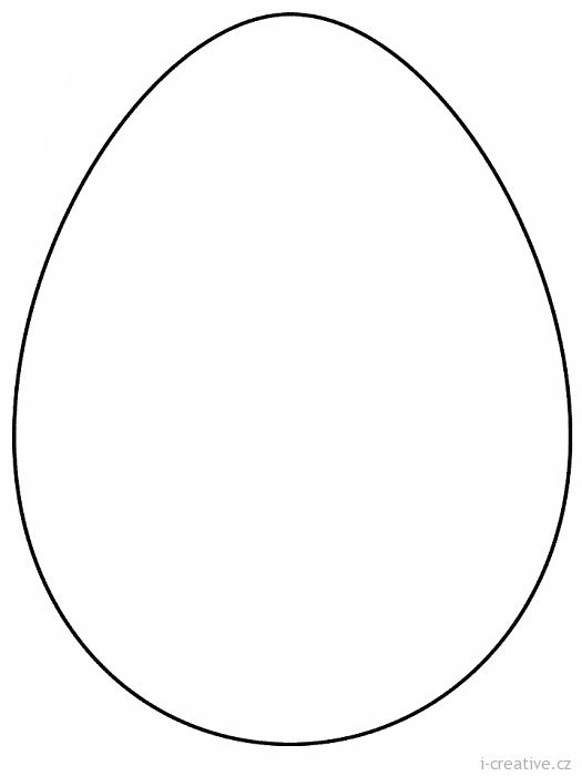Šablona velikonoční vajíčko | i-creative.cz - Inspirace, návody a nápady pro rodiče, učitele a pro všechny, kteří rádi tvoří.