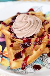 24 comments Posted in Sara, Syrups and Condiments, Waffles, Pancakes, and Crepes 06.16.2014  Overnight Yeasted Waffles from Our Best Bit...