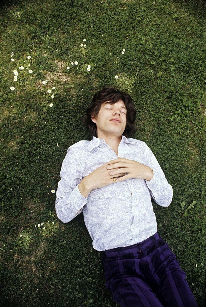 Mick Jagger, looking very #Mellow ... daydreaming about #pizza perhaps?