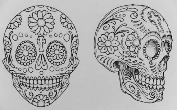 Calavera Mexicana | drawings/art | Pinterest | Mexico and Php