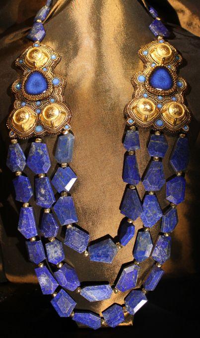 Lapis & Gold Necklace, Faria Siddiqui, LLC