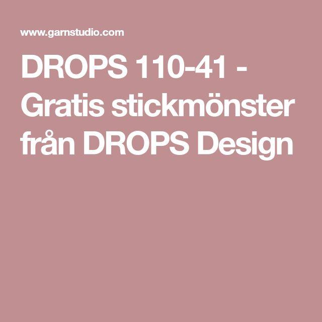 DROPS 110-41 - Gratis stickmönster från DROPS Design