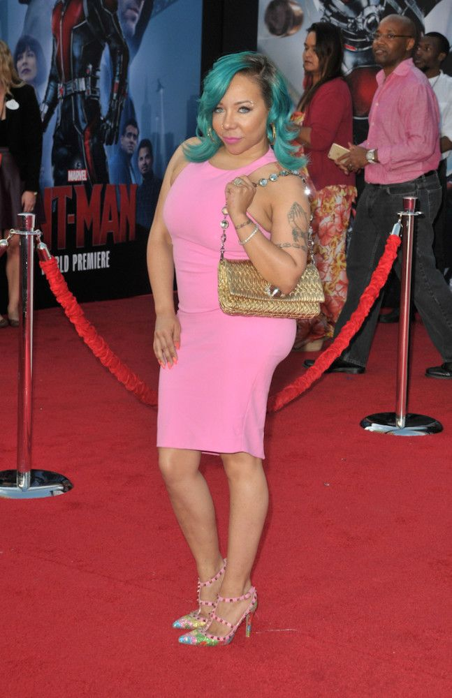 Tameka 'Tiny' Cottle-Harris attends the premiere of Marvel's 'Ant-Man' at the Dolby Theatre in Los Angeles
