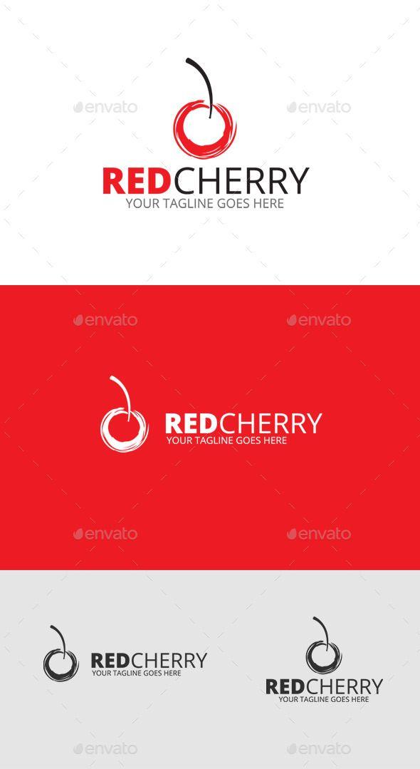 Cherry Fruit Logo - Food Logo Templates