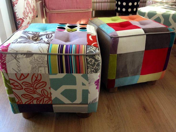 bellos y prácticos pouf en patchwork para todos los ambientes!!