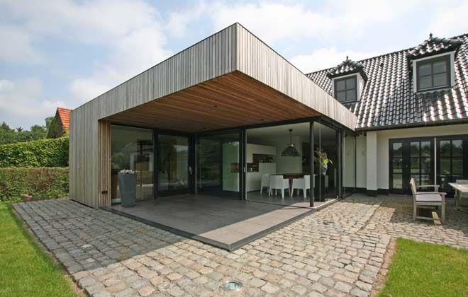 uitbreiding woonhuis - houten gevel - red cedar - CHORA architectuur interieur