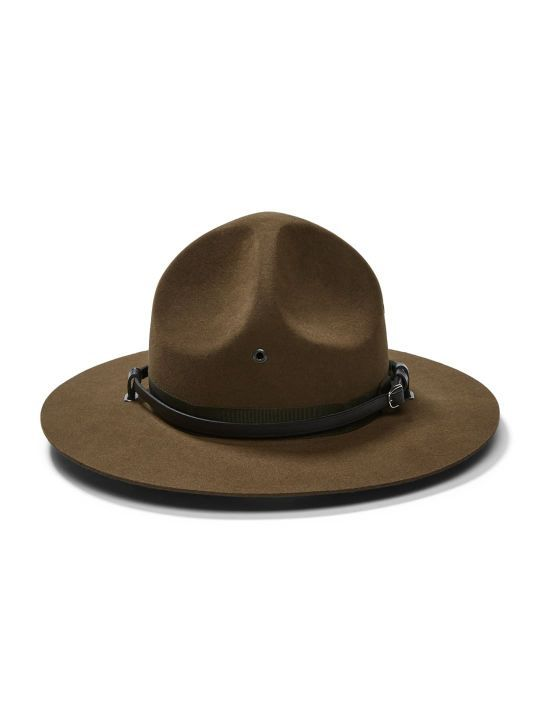 f72e21f5e0caf5 Campaign Hat The Campaign Hat, also known as the traditional ranger hat,  features a solid four dent crown with ventillating eyelets. This flat  brimmed ...
