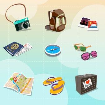 Clipe de viagem colorida no estilo dos desenhos animados