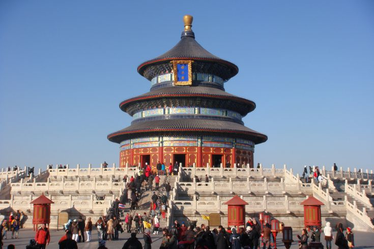 The Hall of temple of Heaven, Beijing, China. The temple complex was constructed from 1406 to 1420 during the reign of the Yongle Emperor.