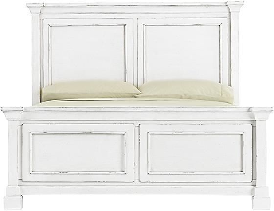 restoration st james hardware style antique white panel bed look 4 less