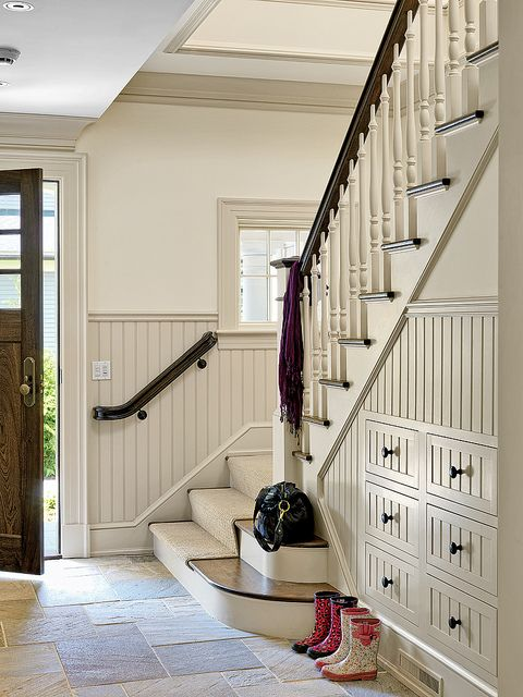 Mudroom Architectural Millwork by Walter Lane; Architecture by Jan Gleysteen Architects; Built by Pioneer Construction; Photography by Richard Mandelkorn