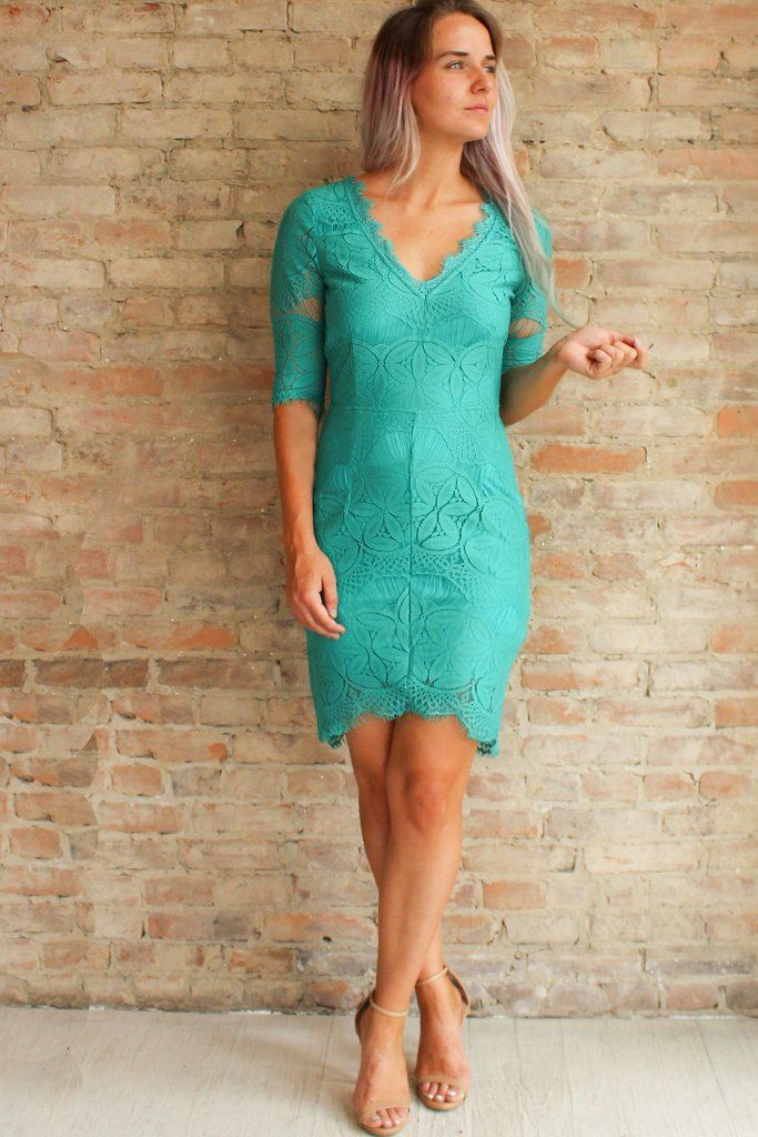 Jade Dress #3/4-sleeve #affordable-dresses #affordable-lace-dress