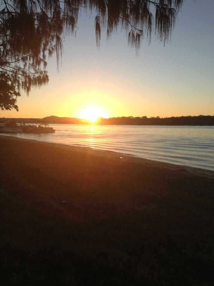 Noosa River at sunset QLD Aust