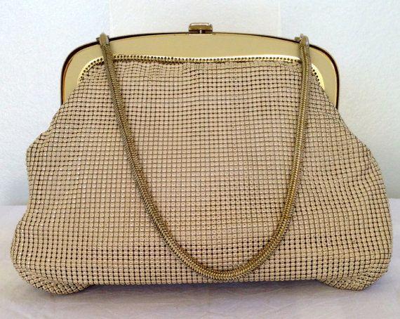 Vintage Glomesh Ivory Bone Handbag By Justwhatawomanneeds