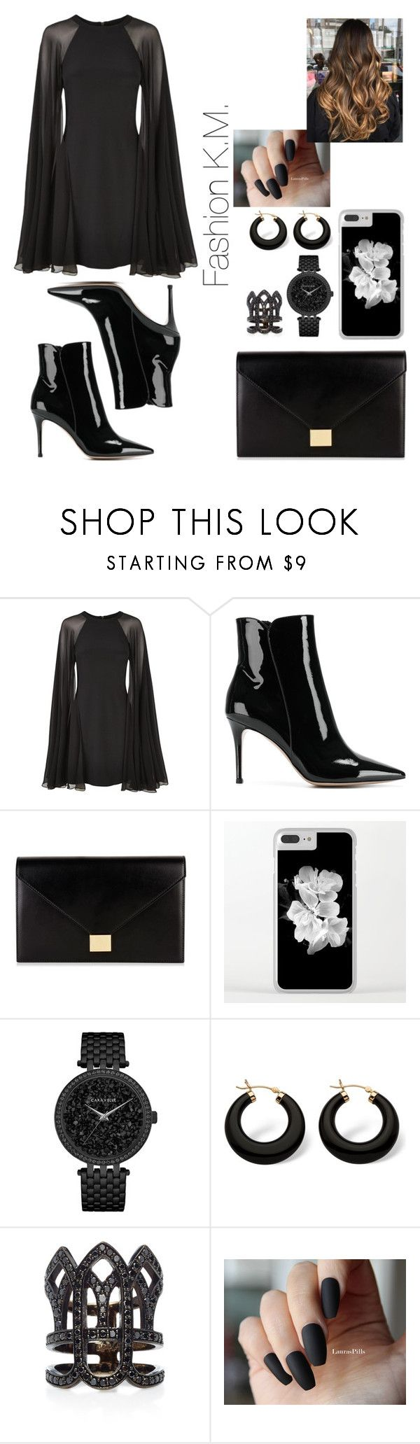 """""""♥Yes or No♥"""" by karinemarutyan ❤ liked on Polyvore featuring Karl Lagerfeld, Gianvito Rossi, Victoria Beckham, Caravelle by Bulova, Palm Beach Jewelry and Colette Jewelry"""