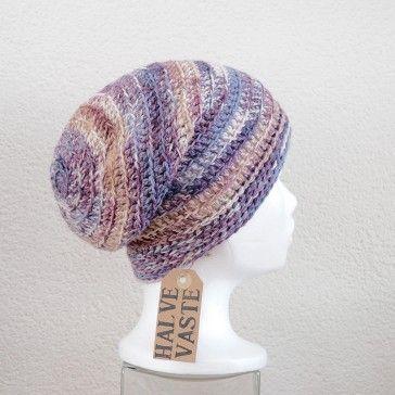 Gratis haakpatroon muts halve vaste Free crochet pattern hat