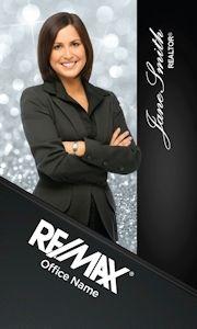 Vertical Diamonds Remax Business Card Design.