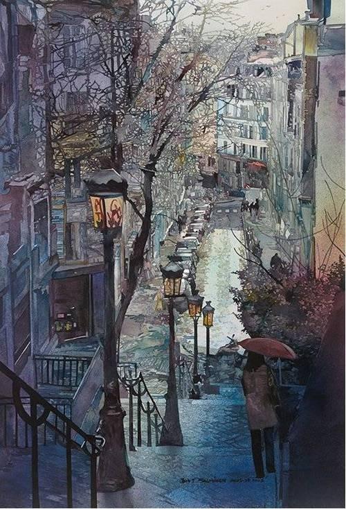 John Salminen - Parisian Stairs