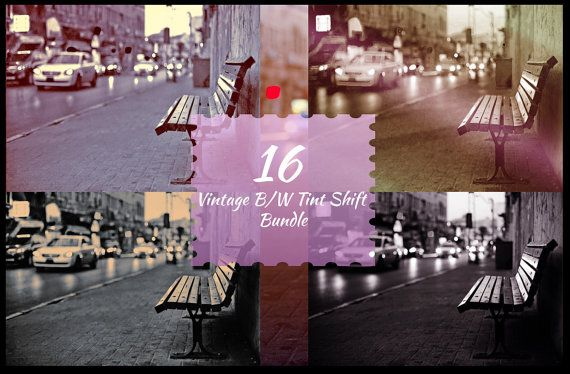 Vintage B/W Tint Shift Photoshop Actions for Beautiful by ONESMFA, $6.00