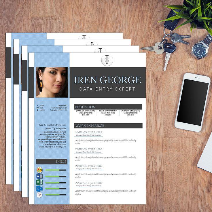 Resume Template for Instant Download CV Design