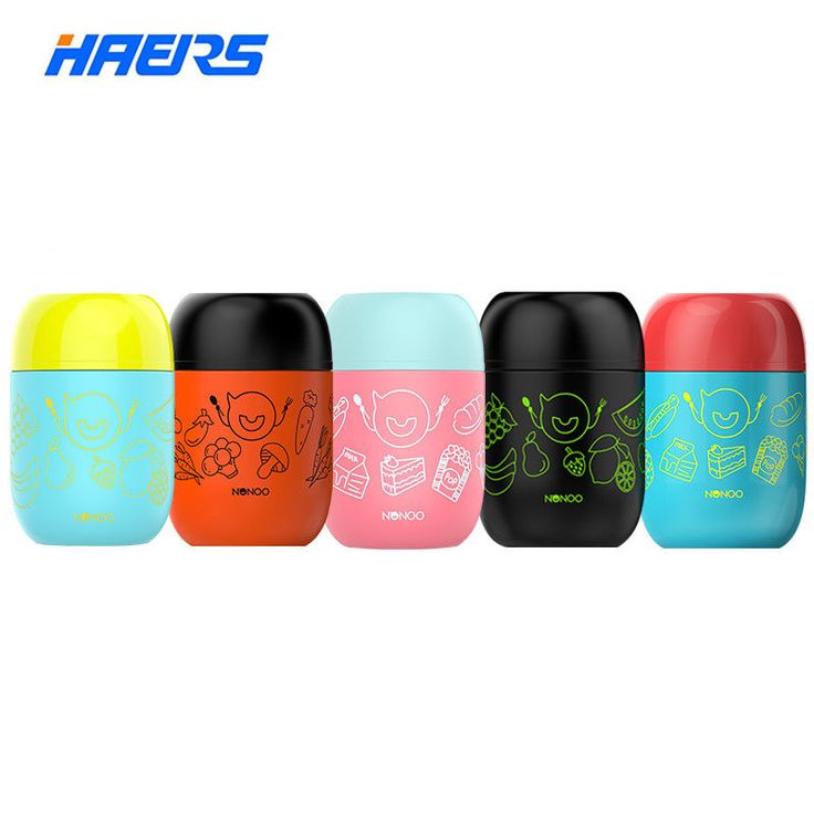 Haers Candy Color Soup Food Thermos for Food Lunch Box 460ML – Aummy Mary
