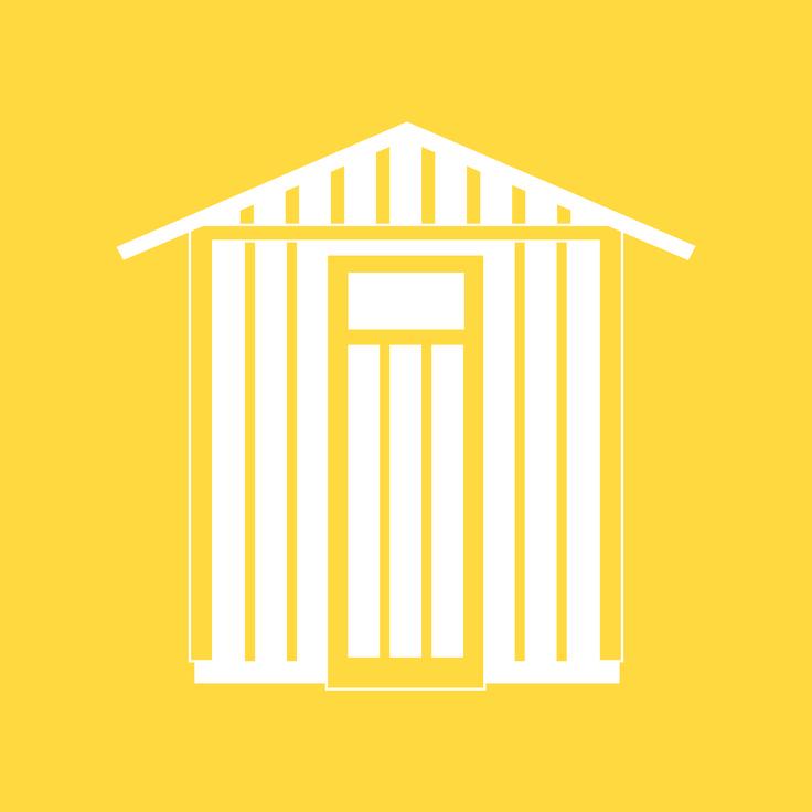 À l'heure où le prix du mètre carré habitable s'affiche prohibitif, l'abri de jardin tend à devenir un espace privilégié, avec ce petit supplément d'âme que lui confèrent l'intimité et l'indépendance qu'il offre. #jaune #illustration #design #cabane #outdoor #grosfillex