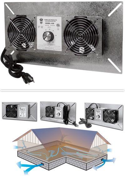 Unique Vent Fan for Basement
