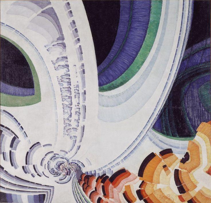 Frantisek Kupka - L'œuvre Lignes animées - Centre Pompidou