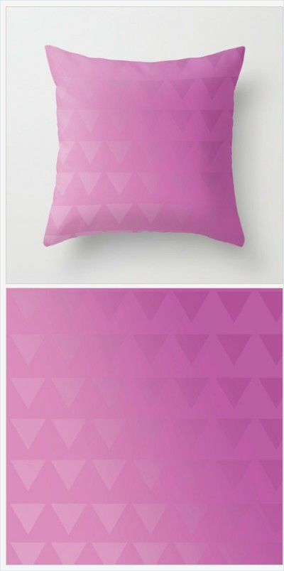 Pink Pillow Cover - Pink Shades Pillow Cover - Throw Pillow Cover - Includes Pillow Insert - Sofa Pillow - Made to Order