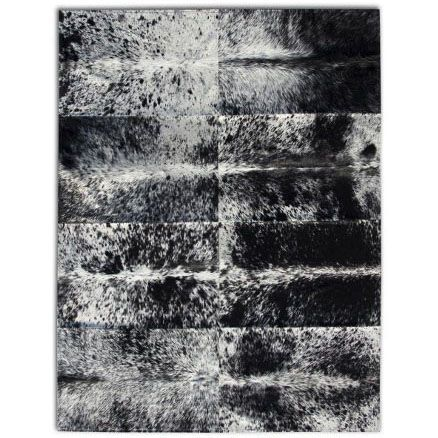 Черно-белый ковер из меха и кожи Gailen Black #carpet #carpets #rugs #rug #interior #designer #ковер #ковры #коврыизшкур #шкуры #дизайн  #marqis