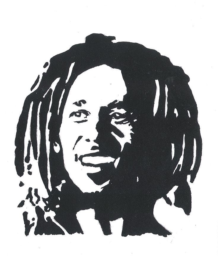 bob marley stencil - G...