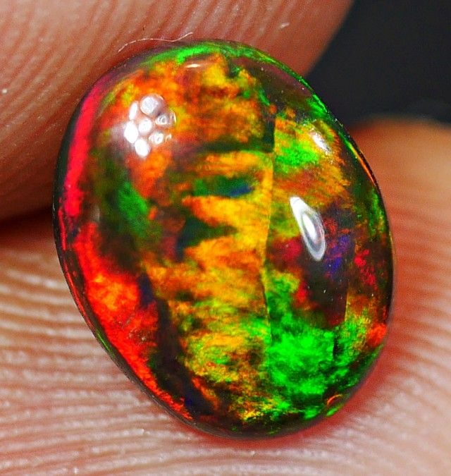 Smoked Opal Stones 9.4 x 7.4 x 3mm 1.05 carats Auction #588815 Opal Auctions