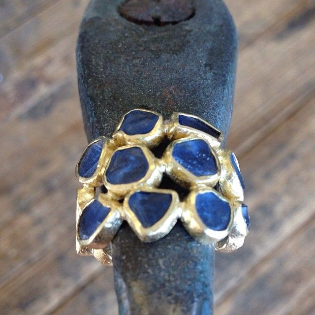 TODD REED - One if or latest and greatest ring designs to leave the shop. #sapphire #gold #toddreedjewelry